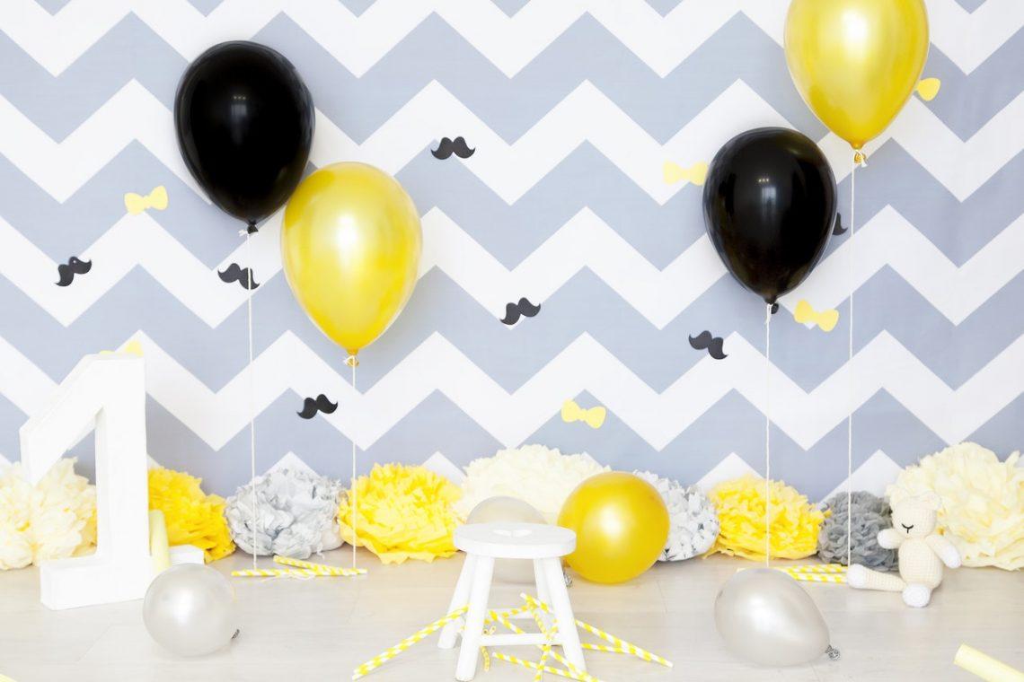 ballons message confettis